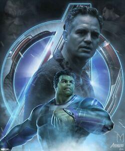 B-423 New Avengers Endgame Marvel Superhero Movie The Hulk Banner Poster Fabric