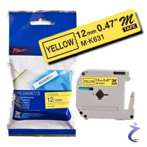 8m Band Schwarz Gelb BROTHER P-touch 12mm Beschriftungsband M-K631 MK631 orig