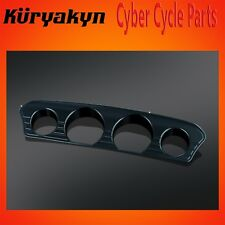 Gloss Black Kuryakyn 6928 Tri-Line Speedo /& Tach Accent for /'15-/'18 Road Glide