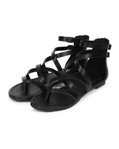 5c06aceb9fb Image is loading New-Women-Breckelles-Ruby-55-Leatherette-Cross-Strappy-