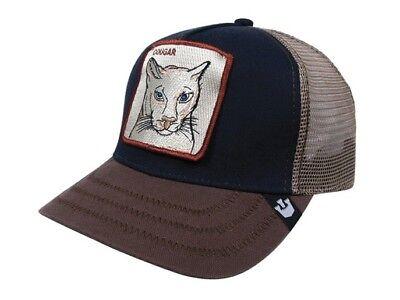 a9a5ba8b7 Goorin Bros Animal Farm Snapback Trucker Hat Cap Cougar Navy 101-4283   eBay