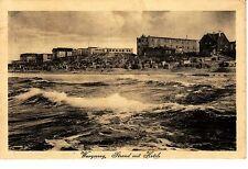 Wangerooge AK 1925 Strand mit Hotels Wellen Nordsee Niedersachsen 1501032