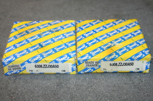 NEW * SNR 6308.ZZJ30A50 Shielded Deep Groove Bearings ZZ Lot of 2