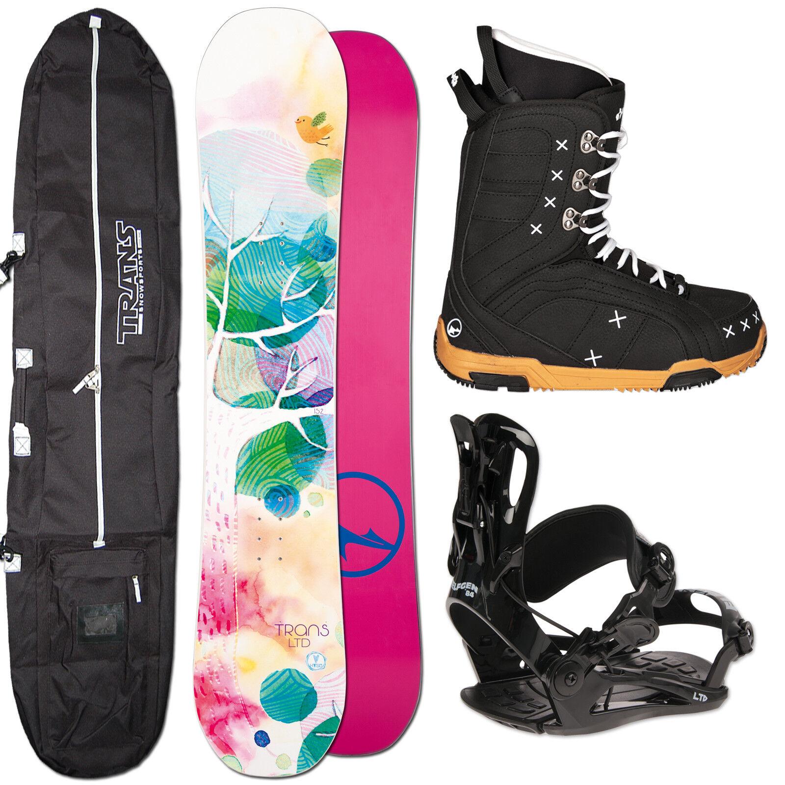 Women's Snowboard Set Trans Ltd 152 cm + Fastec Binding SIZE M + Boots+ Bag