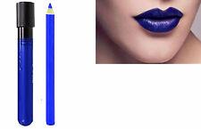 2pc azul eléctrico Matt beso a prueba Lápiz Labial Lip Colour Varita Conjunto Con Delineador De Labios