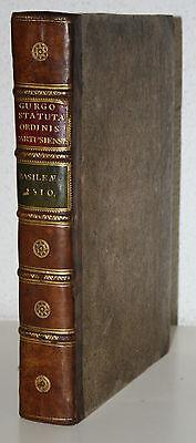INKUNABEL,GURGO STATUTA ORDINIS CARTUSIENSIS,BASEL,AMERBACH,FROBEN & PETRI,1510
