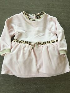 69cc2adef Roberto Cavalli Baby Girl Pink Leopard Long Sleeve Dress Size 12m | eBay