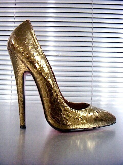 Descuento barato MORI MADE IN ITALY HIGH SKY SEXY HEELS PUMPS SCHUHE SHOES LEATHER GOLD ORO 37