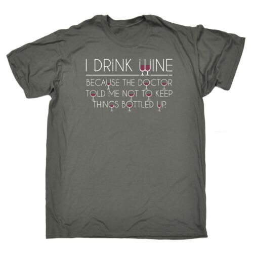 I Drink Wine Because The Doctor Funny Adult Humour T-SHIRT Birthday for him her
