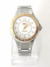 Lacoste Damen Uhr Acapulco silber gold weiß Edelstahl 2000815