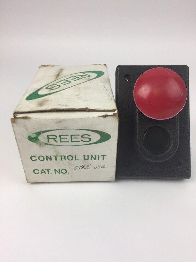 REES 1968-032 CONTROL UNIT START STOP MUSHROOM PUSH BUTTON