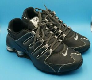 Nike-Shox-NZ-Running-Shoes-378341-055-Black-and-Silver-Mens-Size-8-5