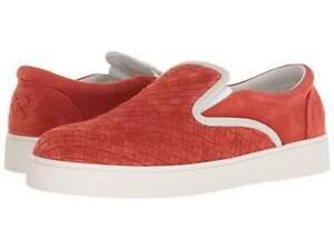 BOTTEGA-VENETA-Intrecciato-suede-dodger-sneaker-Sz44-Orange-New-Ori-680