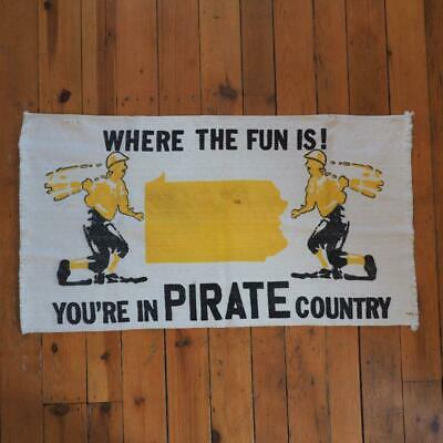 FäHig Vintage Pittsburgh Pirates Land Pennsylvania Teppich Wandbehang Baseball & Softball Fanartikel