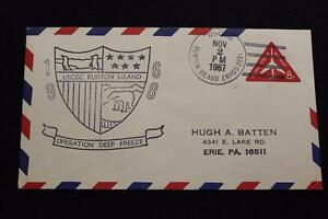 Navale-Cover-1967-Nave-Cancel-Nave-Marchio-Uscgc-Burton-Isola-WAGB-283-4132