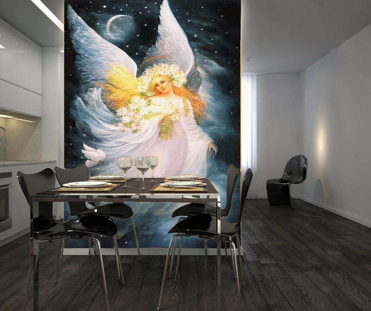 3D White Gown Angel 75 Wall Paper Murals Wall Print Wall Wallpaper Mural AU Kyra