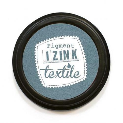 IZINK Pigment Textile Textil Stempelkissen 7cm ø stone
