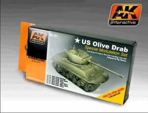 Ak00131 - Ak Interactive - Vert Olive Terne Couleur Modulation Set Nombreux Dans La VariéTé