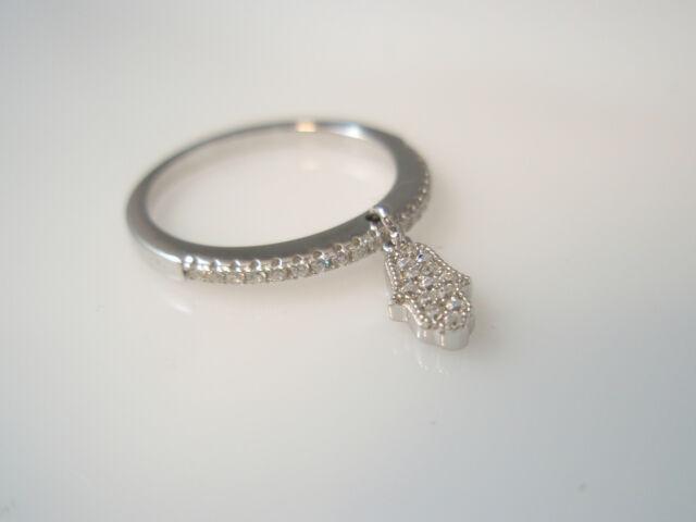 hamsa stacking ring,lucky ring,hamsa ring,delicate ring cz sterlig silver 925