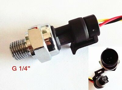 1pc NEW Pressure Sensor G 1/4'' Water Oil Diesel Gasoline Gas