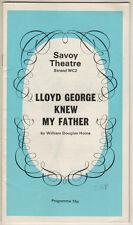 "Ralph Richardson ""Lloyd George Knew My Father""  Playbill London 1972"