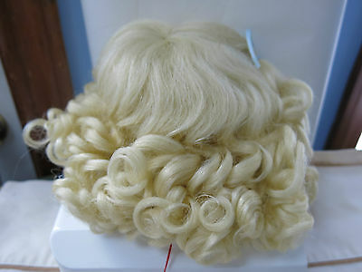 SIZE 9 PAIGE LIGHT BLONDE ANTIQUE MODERN DOLL WIG  SYNTHETIC MOHAIR