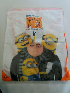 Personalised Despicable Me Minion School//PE//Gym//Baby//Swimming Drawstring Bag