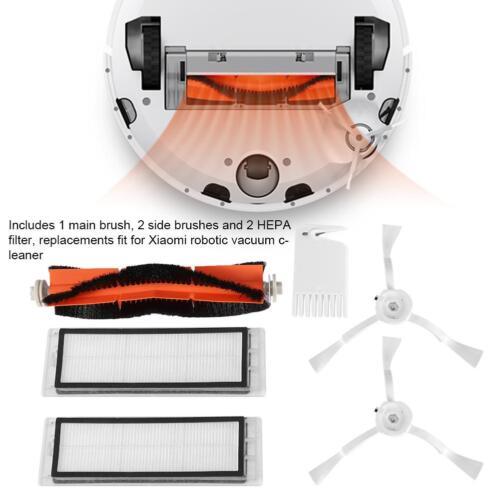 1x Main Brush & 2x HEPA Filter for XIAOMI Mi Robot Roborock S50 Vacuum Cleaner