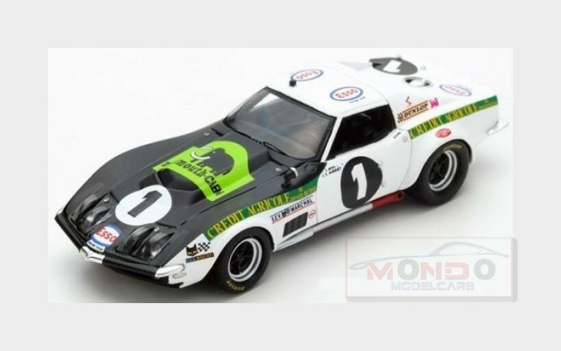 a buon mercato Chevrolet Corvette C3  1 24H Le uomos uomos uomos 1970 J.Bourdon J.C.Aubriet SPARK 1 43 S5073  vendita online