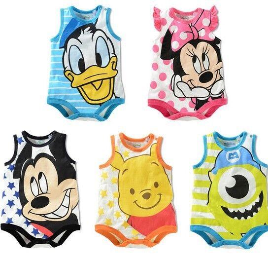 Cartoon Kids Infant Baby Boy Girl Romper Jumpsuit Cotton Clothes Bodysuit Outfit