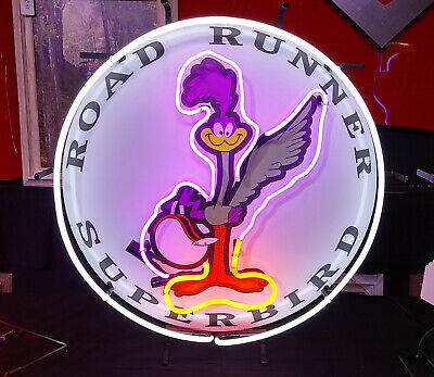 "New Road Runner Super Bird Chrysler Auto Car Neon Sign 24/""x24/"" Ship From USA"