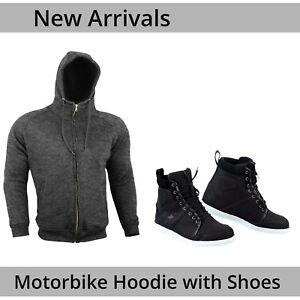 Armoured-Hoodie-Motorcycle-Motorbike-Hoody-With-Black-Sneaker-Boots-Waterproof