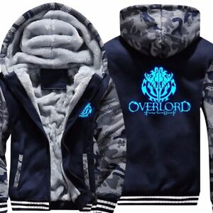 Anime-Overlord-Luminous-Mens-Jacket-Hoodie-Thicken-Camouflage-Sleeve-Zipper-Coat