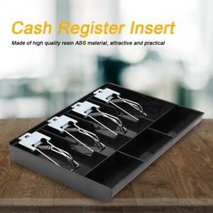 Cash Drawer Register Insert Tray Replacement Money Storage Metal Clip Box