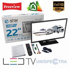 """12V 22"""" Inch HD LED Digital Freeview HD TV / USB PVR & Media DivX Player 12 Volt"""