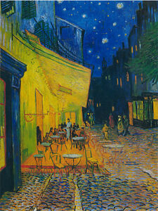 Starry sky Canvas Wall Art by Vincent van Gogh oil painting Picture Printed Md41