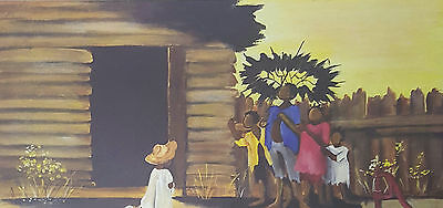 Annie Lee Art Print African American COME UNDA DE ' BRELLA Liquidation Sale!!