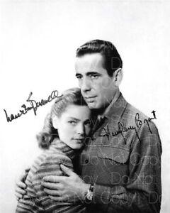 Lauren-Bacall-Humphrey-Bogart-Firmado-8X10-Foto-Imagen-Poster-Autografo