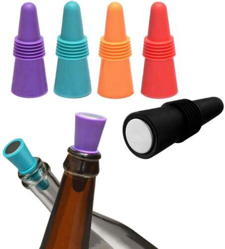 10//5 Lot Reusable Sparkling Wine Bottle Stopper Beverage w//Grip Top Keep Fresh