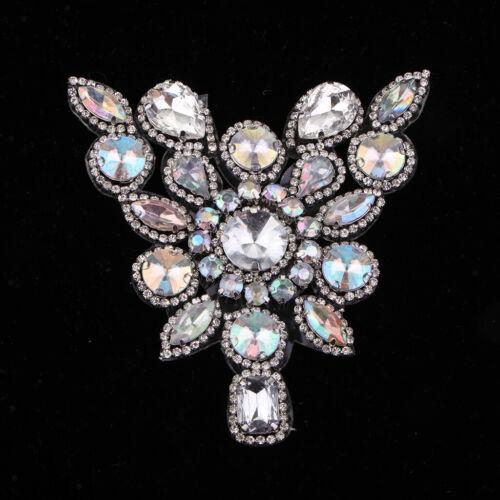 Kristall Strass Perlen Applique Ordnung Nähen Eisen auf Braut Kostüm DIY
