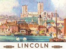 TRAVEL LINCOLN ENGLAND BRITISH RAILWAYS ART POSTER PRINT LV4049