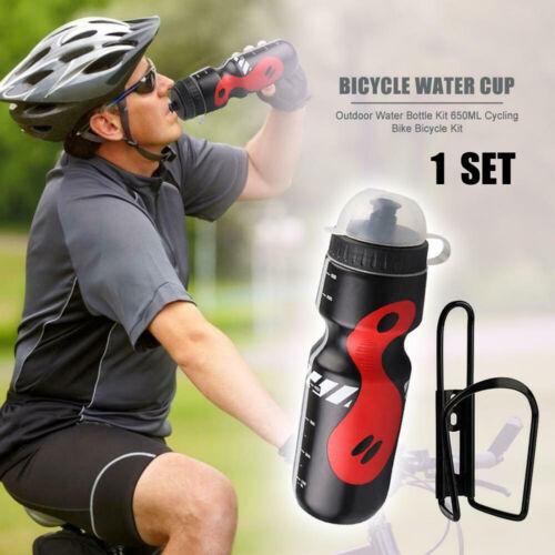 650 ml Vélo De Montagne Vélo Cyclisme Eau Boisson Bouteille et Porte-Cage Kit UK