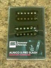 New Seymour Duncan Slash Alnico II Pro Humbucker Pickup Set Black