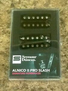New-Seymour-Duncan-Slash-Alnico-II-Pro-Humbucker-Pickup-Set-Black