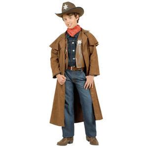 COWBOY-KOSTUM-KINDER-Karneval-Fasching-Mantel-Hose-Western-Sheriff-Jungen-5738