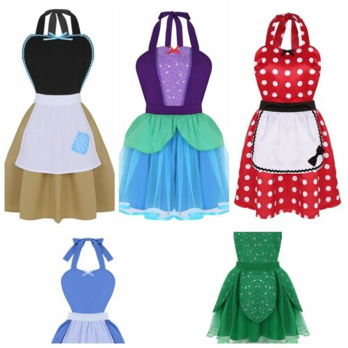Womens Adjustable Kitchen Aprons Costume Aprons Cooking Bib Vintage Apron Dress