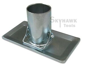 New-RV-Trailer-Tongue-Jack-Foot-3-1-2-034-Stand-Foot-2-000-Ibs-Zinc-Plated