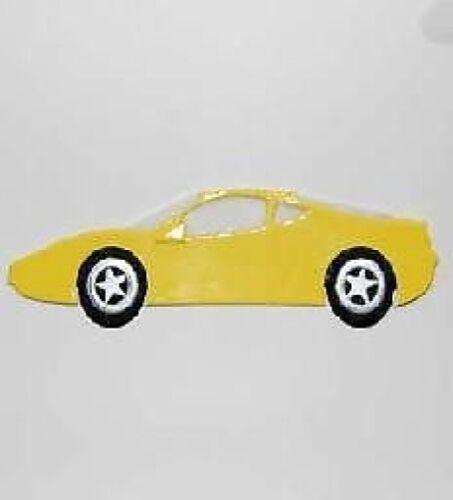 3 jaune ferrari voiture die cuts pour cartes ou artisanat