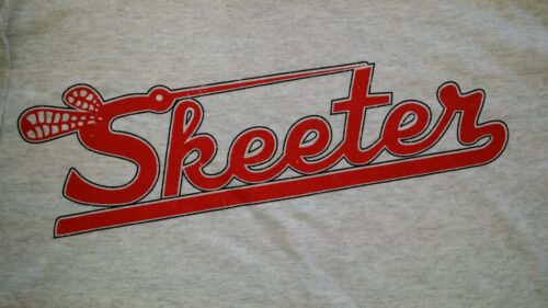 New Retro Skeeter Gray TeeShirt with Skeeter Logo on Front in Red