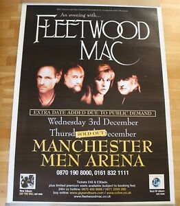 Fleetwood-Mac-large-billboard-poster-MEN-Arena-Manchester-2003-Great-condition